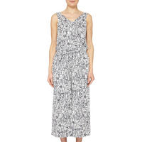 Gramma Contemporary Print Jumpsuit White