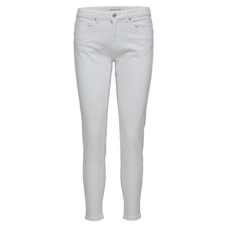 Ida Skinny Cropped Jeans White