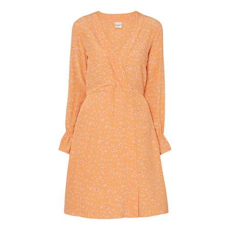 Anya Wrap Dress Orange