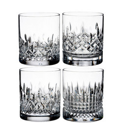 "Lismore Short Stories Lismore ""Evolution"" Set of 4 Tumblers Clear"