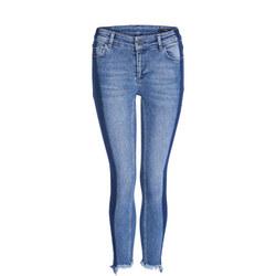 Side Fade Skinny Jeans Blue