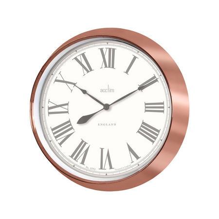 Belmont Clock Metallic