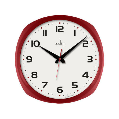 Lucia Clock Red