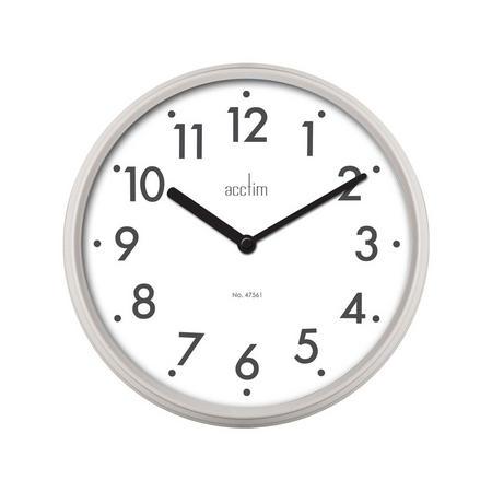 Thora Field Clock Silver-Tone
