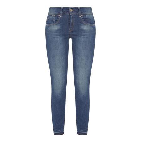 Lynn Mid-Rise Skinny Jeans Blue