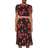 Avi Floral Dress Black