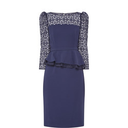 Emmy Midi Dress Navy