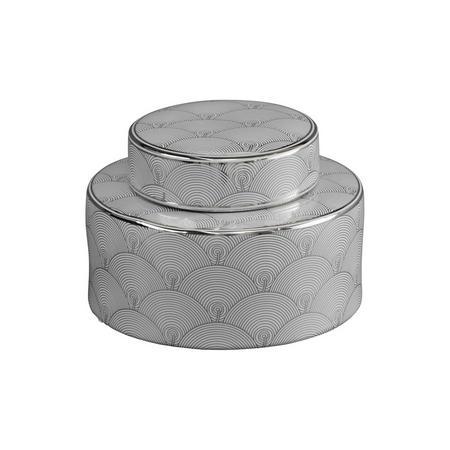 Small Fan Deco Ceramic Jar
