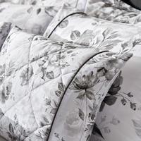 Watery Rose Housewife Pillowcase Grey