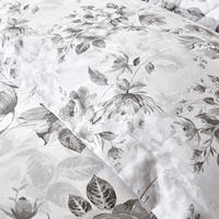 Watery Rose Grey Duvet Cover Grey