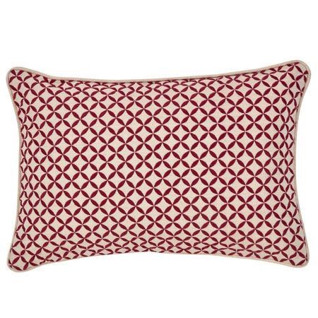 Penzance Cushion Red 30 x 45cm