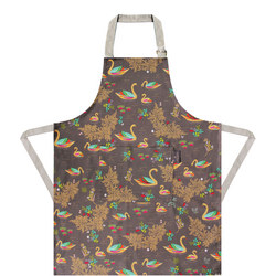 Sara Miller Apron Repeat Swan Grey
