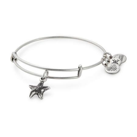 Starfish Charm Bangle Silver-Tone