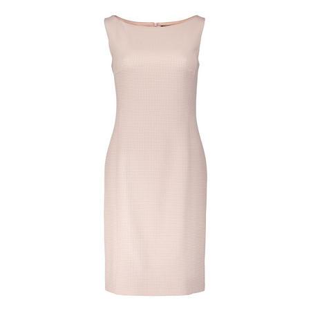 Textured Diamond Pencil Dress Pink