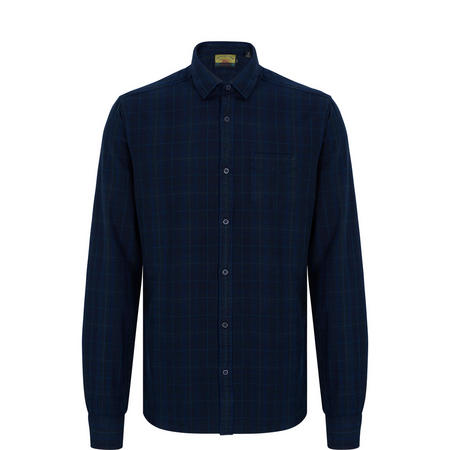 Checked Oxford Shirt Navy
