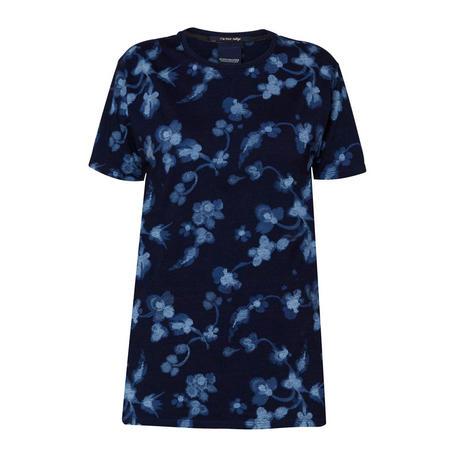Flower Print T-Shirt Blue