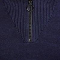 Quarter Zip Knit Sweater Blue