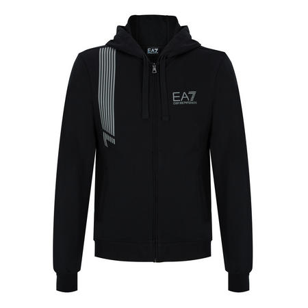 7 Lines Zip Through Sweat Top Black