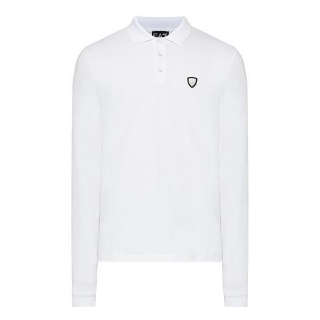 Shield Logo Polo Shirt White
