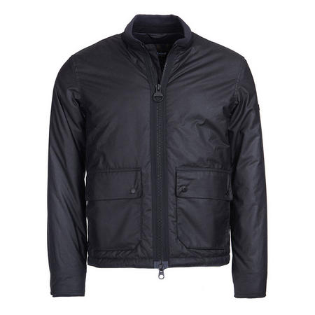 Injection Wax Jacket Black