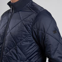Gabion Quilted Short Jacket Navy