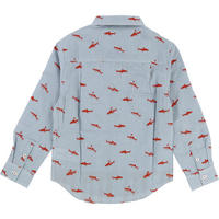 Shark Print Shirt Blue