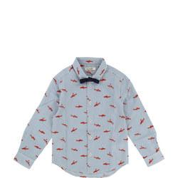 Shark Print Shirt Blue