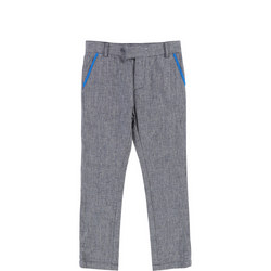 Tweed Trousers Blue