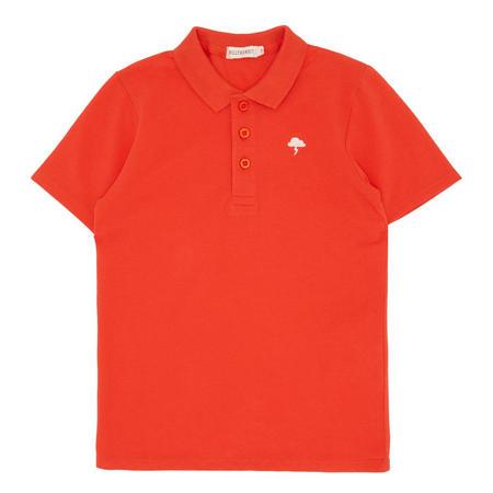 Boys Short Sleeve Polo Shirt Orange