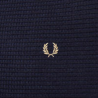 Textured Crew Neck Sweater Navy