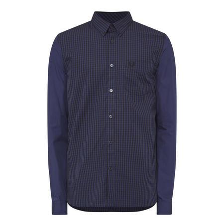 Tonal Gingham Shirt Navy
