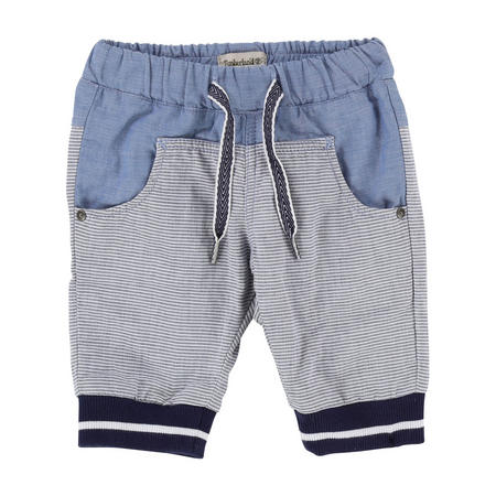 Stripe Woven Trousers Blue