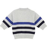 Striped Cardigan Navy