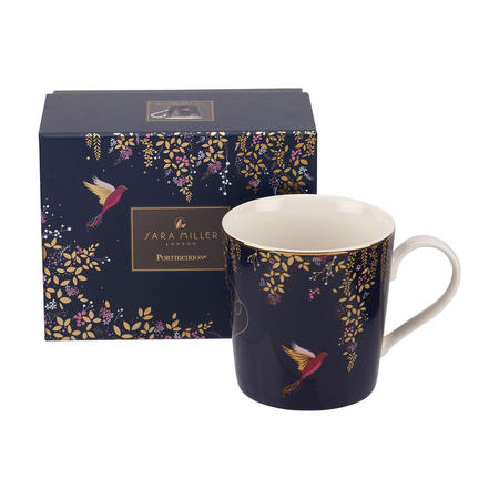 The Chelsea Collection Navy Hummingbird Mug Blue