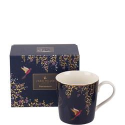 The Chelsea Collection Navy Hummingbird Mug Blue