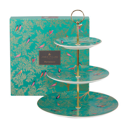 The Chelsea Collection 3 Tier Cake Stand Green