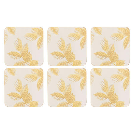 Etched Leaves Coasters