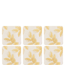 Etched Leaves Coasters Grey