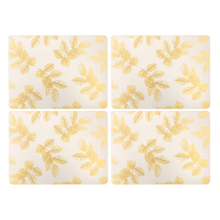 Etched Leaves Placemats  Grey