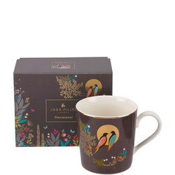 The Chelsea Collection Grey Birds Mug Brown