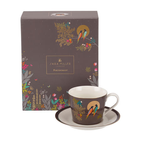 Chelsea Collection Tea Cup & Saucer Dark Grey