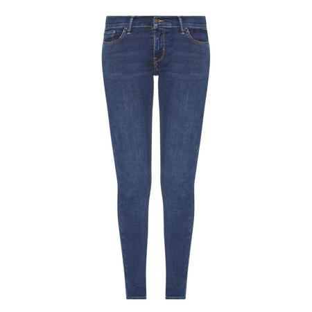 710 Mid-Rise Skinny Jeans Blue