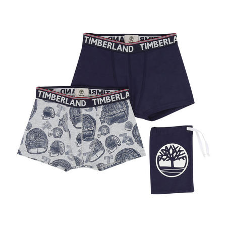 Two-Pack Printed Boxers Navy