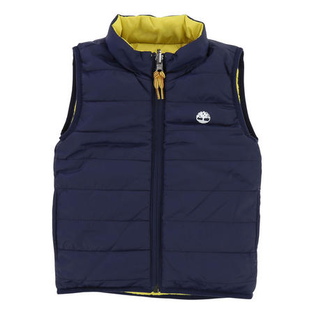 Boys Reversible Padded Gilet Navy