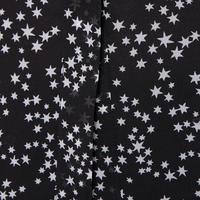 Star Chiffon Blouse Black