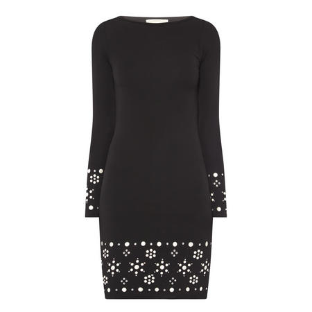 Pearl Stud Dress Black