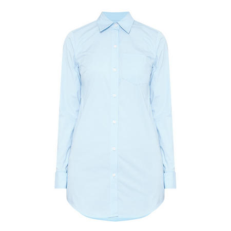 Double Cuff Shirt Blue