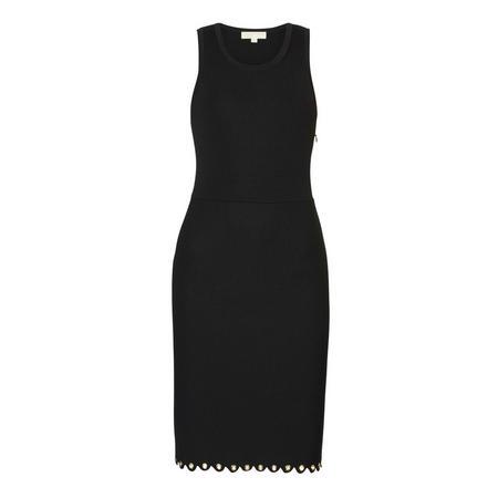 Grommet Hem Dress Black