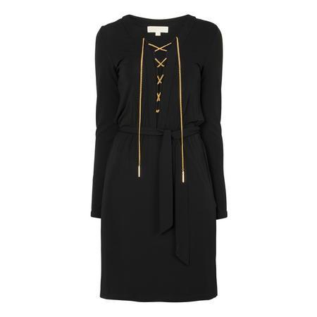 Safari Chain Embellished Dress Black