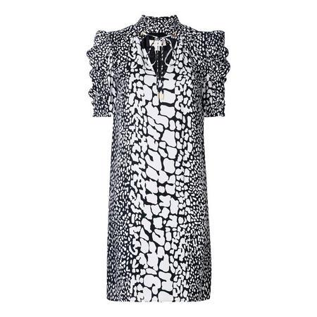 Crocodile Print Silk Dress